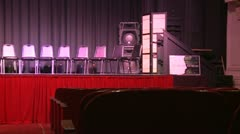 Theater stage with empty seats (3 of 3) - stock footage