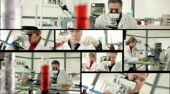 lab  science montage - stock footage