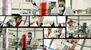 Lab  science montage Stock Footage
