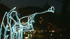 Christmas Angel lights in Rome (9) - stock footage