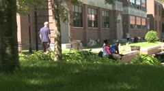 Students on a college campus (7 of 9) - stock footage