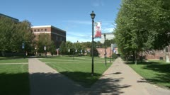Students on a college campus (6 of 9) - stock footage