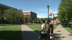 Students on a college campus (5 of 9) Stock Footage