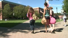 Students on a college campus (3 of 9) - stock footage