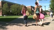 Stock Video Footage of Students on a college campus (3 of 9)