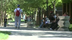 Students on a college campus (2 of 9) Stock Footage