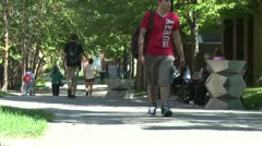 Students on a college campus (1 of 9) Stock Footage