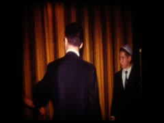 Candle Lighting ceremony at bar mitzvah party Stock Footage
