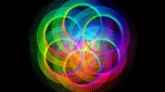 Rings of Plasma Loop HD 720 - stock footage