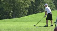 Stock Video Footage of Golfer teeing off