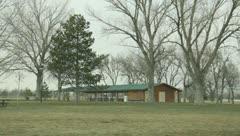 Park pavilion 1 - stock footage
