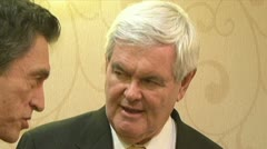 Newt Gingrich - stock footage