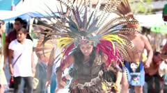 Aztec and Maya dancers - stock footage