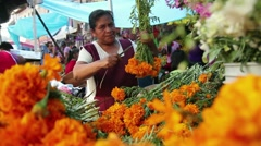 Market of Mexico, flowers - stock footage