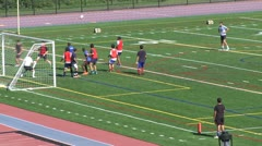 Boys High School Soccer practice (4 of 6) - stock footage