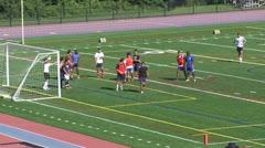 Boys High School Soccer practice (2 of 6) Stock Footage