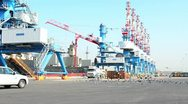 Sea port 05 Stock Footage