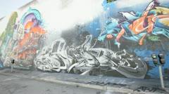 Graffiti mural at the Design District, Miami FL. - stock footage
