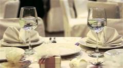Wedding table Stock Footage