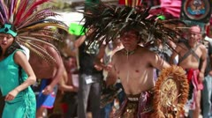 Aztec Sundancers Stock Footage