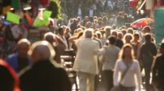 Crowds in the busy Latin Quarter of Paris Stock Footage