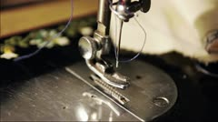 Old sewing Machine Stock Footage
