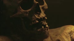 Mummy with skull Stock Footage