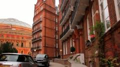 Royal Albert Hall in London, UK Stock Footage