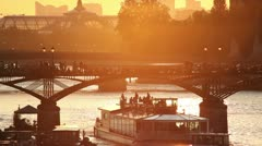 Central Paris at Sunset Stock Footage