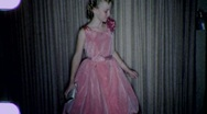 Young Girl PINK PARTY DRESS Fashion 1960s (Vintage Film Home Movie) 1918 Stock Footage