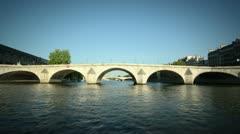 Paris boat tour timelapse Stock Footage