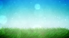 Sunny grass loop - stock footage