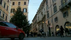 Christmas shopping in Rome (1) Stock Footage