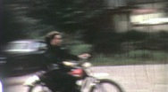 Stock Video Footage of TEENAGE MOTORCYCLE Dirt Bike Gang Boys 1968 (Vintage Retro Film Home Movie) 1925