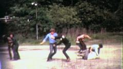 GANG FIGHT! Fist Teen Slug Fest Violence 1960s Vintage Film Home Movie 1926 - stock footage