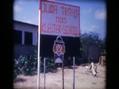3rd world school sign and exterior Stock Footage