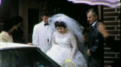 Bride and Groom Circa 1965 (Vintage Film Home Movie) 1930 Stock Footage