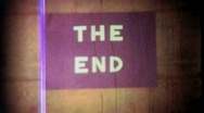 THE END Title Leader Finale Ending Retro Graphic Home Movie Vintage Film 1937 Stock Footage