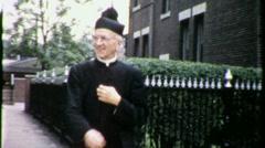 Catholic Priest Congregation Church 1950s (Vintage Film Home Movie) 1934 Stock Footage