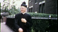Stock Video Footage of Catholic Priest Congregation Church 1950s (Vintage Film Home Movie) 1934