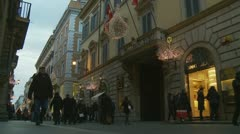 Christmas shopping in Rome (3) Stock Footage