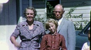 Stock Video Footage of Grandparents and Grandchildren Circa 1962 (Vintage Film Home Movie) 1912
