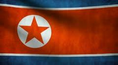 North Korea flag. Stock Footage