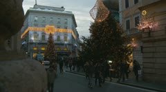 Christmas shopping in Rome (4) Stock Footage