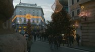 Stock Video Footage of Christmas shopping in Rome (4)