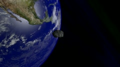 Asteroid Flyby Earth 3 - stock footage