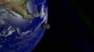 Asteroid Flyby Earth 3 Stock Footage