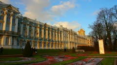 Catherine Palace - Pushkin, Tsarskoe Selo, St. Petersburg Stock Footage
