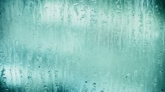 Water droplets on windows,Grilles,ice. Stock Footage