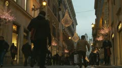 6 Christmas shopping in Rome (6) Stock Footage